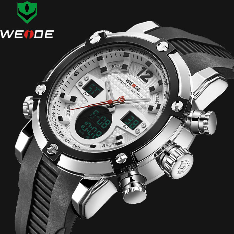 Luxury Brand Top Men Army Military Watch Men's Quartz LED Digital Leather Led Wristwatch Men Sports Watches Relogio Masculino luxury brand men sport watches waterproof leather quartz analog watch men digital led army military wristwatch relogio masculino