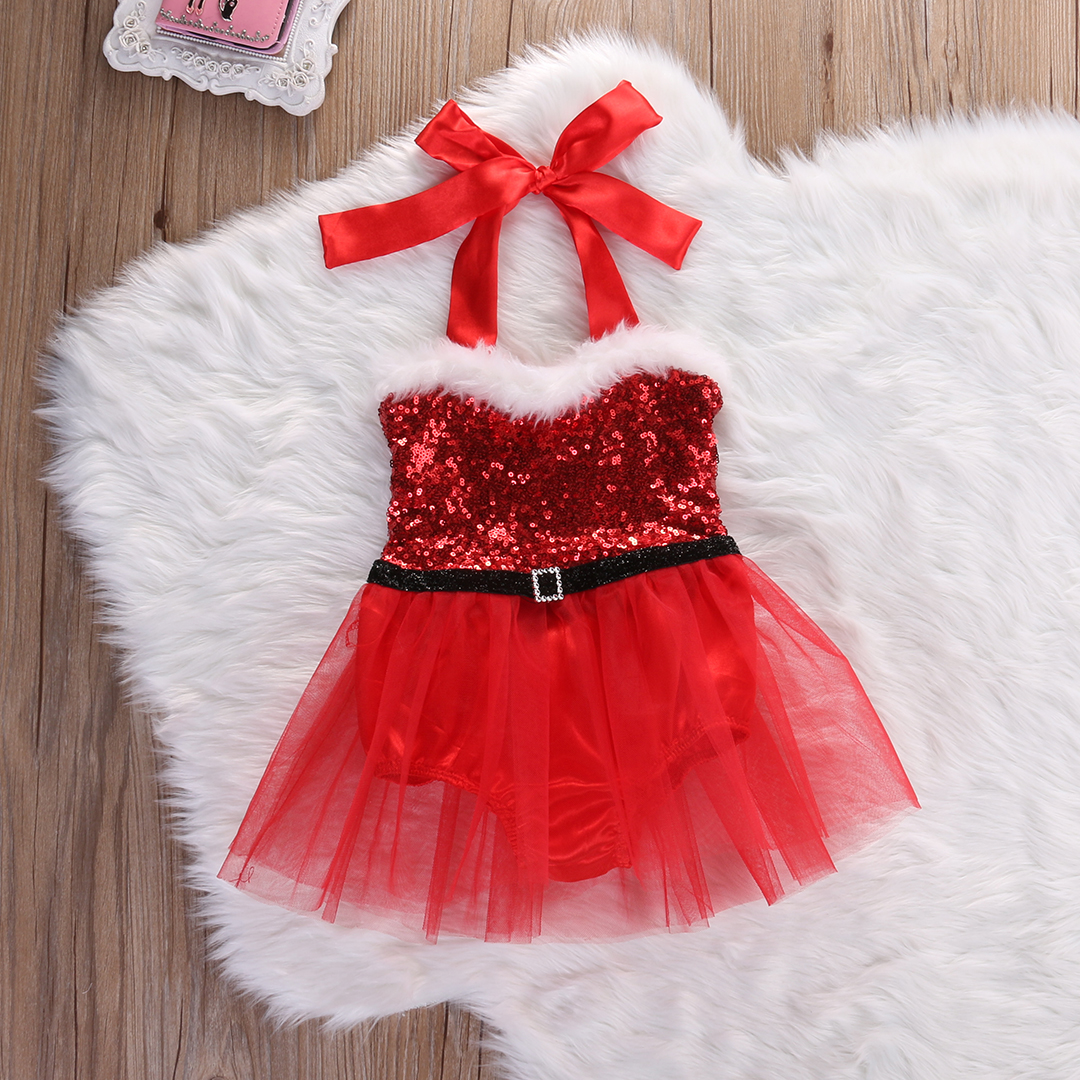 65ba8a4e5e Christmas XMAS Newborn Toddler Baby Girl Tutu Dress Rompers Jumpsuit Outfits  Costume