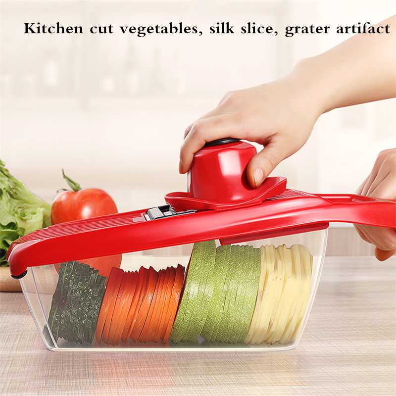 JAMUWY kitchen home multi-function cut vegetables fruit silk sliced grater artifact. We pay for shipping