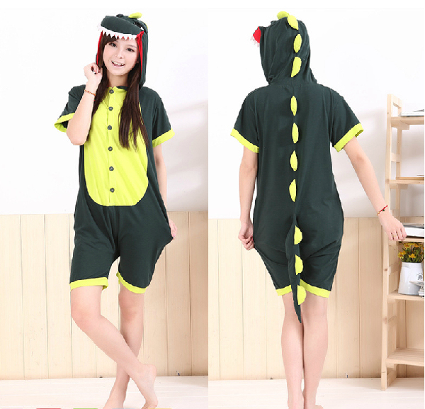 16ecba7fe227 Adult Anime Dinosaur onesie women men Summer pajamas animal onesie short  sleeve sleepwear pyjamas all in one piece clothes