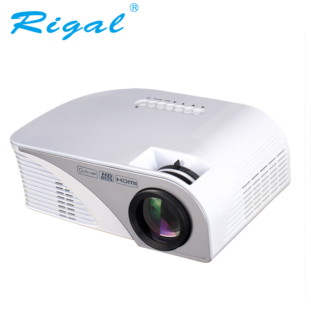 Rigal Projector RD805B 1200 Lumen LED MINI Projector Support 1080P with 3D Beamer for Video Home Cinema Input HDMI USB VGA AV everyone gain mini projector home theater led projector support 1920 1080p through hdmi cable beamer hdmi vga usb av dtv