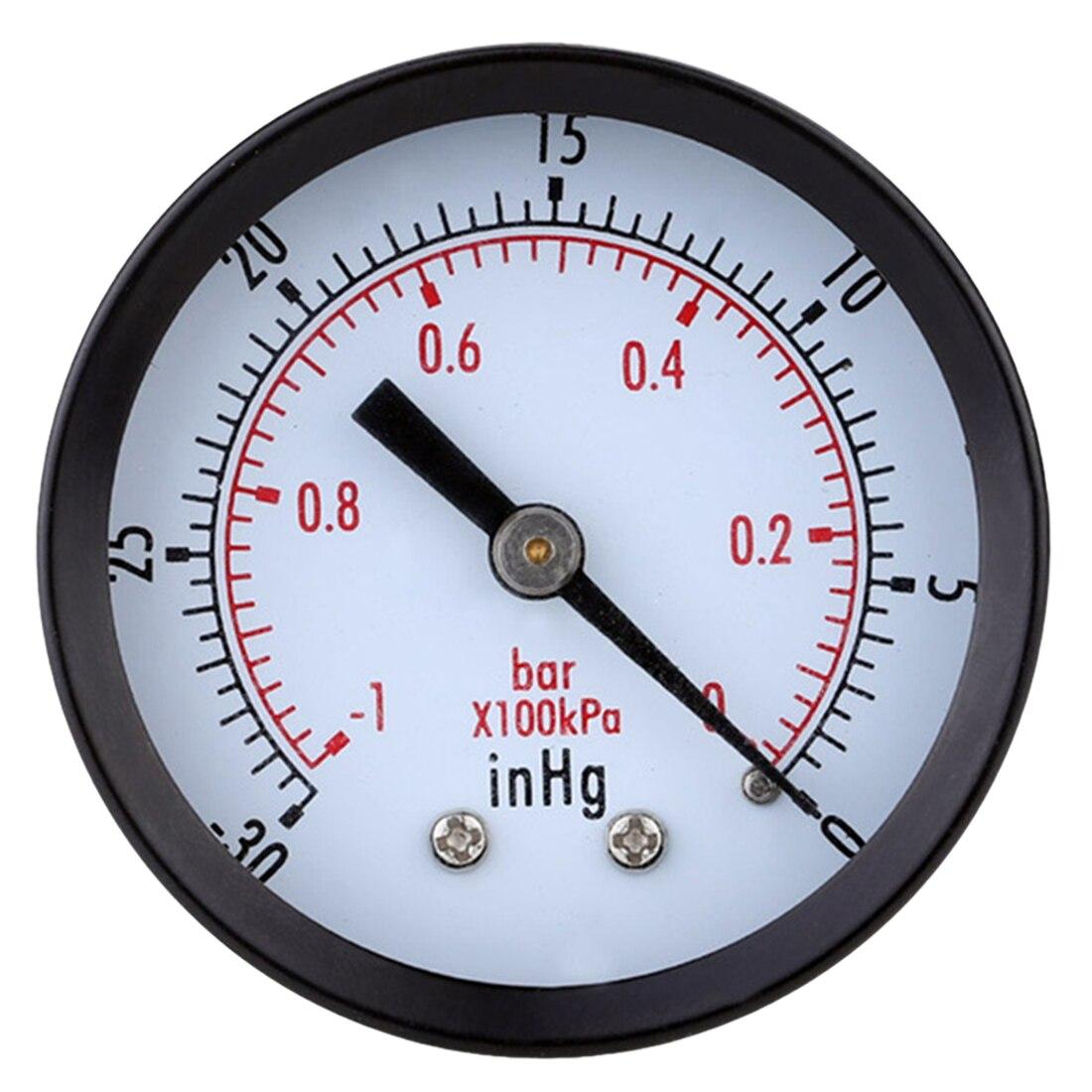 0 To -1bar 50 Diameter Vacuum Pressure Gauge