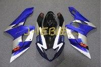 Blue Black white Injection Fairing Body Work Frame Kit for SUZUKI GSXR 1000 GSXR1000 K5 2005 2006