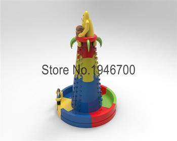 Nowy projekt bezpieczeństwa dmuchane ścianka wspinaczkowa tanie i dobre opinie XZ-CL-056 Dziecko New design safety inflatable climbing wall 0 5mmPVC L10 8*H8*W10 5m 110-220v Large Outdoor Inflatable Recreation