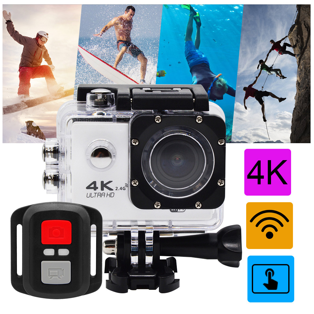 Nouveauté! caméra d'action originale K2 Ultra HD 4 K 30 m étanche 2.0 'écran tactile 1080 p caméra sport go extreme pro camer