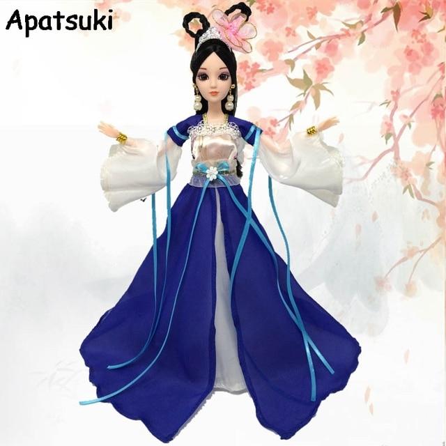 6b8de6b18 Accesorios de la muñeca Cosplay chino tradicional antigua belleza muñeca  vestido para muñecas Barbie vestido de