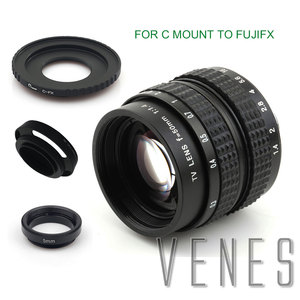 Image 4 - Venes 50mm f/1.4 CC TV F1.4 Lens for Nikon 1 M4/3 for Pentax Q Nex for Fuji FX EOS M A6300A5100 A6000 A5000 A3000 OM DE M10 II