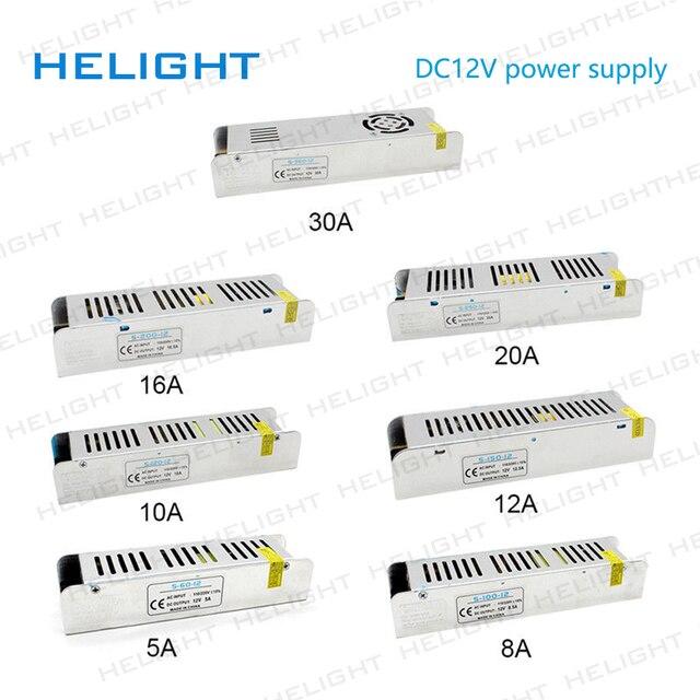 US $7 31 20% OFF|LED Driver Power Supply AC220 to DC12V 60W 96W 120W 144W  192W 240W 360W LED Adapter Lighting Transformers-in Lighting Transformers