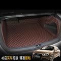 free shipping pu leather car trunk mat cargo mat for audi a4 b8 2007 2008 2009 2010 2011 2012 2013 2014 2015 sedan