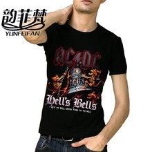 2018 AC DC Heavy metal algodón negro punk rock camisetas 100% algodón  fresco HipHop impreso camisas para hombres 3d camiseta f7ac2e4c6f7