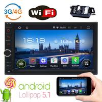 7 Android 5.1 Doubel Din In Dash Car Radio Stereo No DVD player MP5 Player support WiFi 4G 3G build in GPS+Tablet+Backup Camera