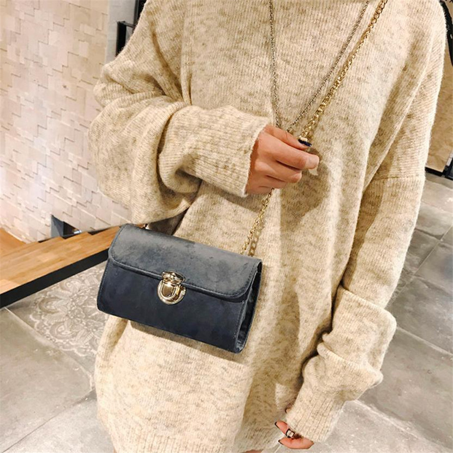 new MINI bags women's 1PC Fashion Women Bag Retro Pure Color Gold Velvet Messenger Bags Shoulder Bag Female Tote HandbagA0913#30