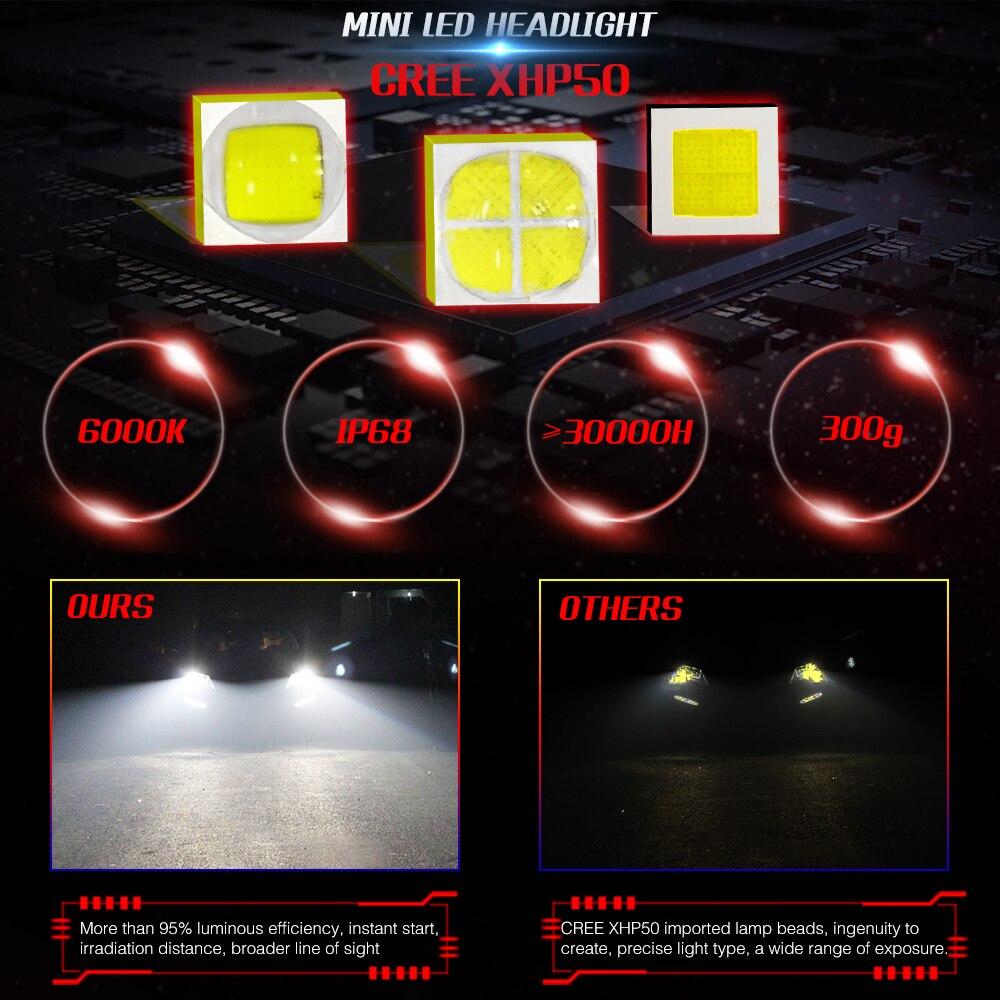 LEADTOPS 9005 LED faro de coche H1 H4 H7 H11 9006 bombilla de faro - Luces del coche - foto 6
