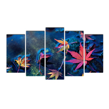 5 Piece Canvas Painting Printed wall art poster picture home decoration canvas free shipping framed home art Maple Leaves