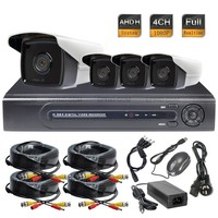 4CH AHD H 1080P Full Real Time DVR 2 0MP Waterproof Camera CCTV Security System