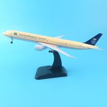 20cm Metal Plane Model Saudi Arabian Airlines Boeing 777 Airplane Model w Stand Aircraft pulley landing gear Collect gifts TOYS