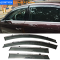 4 unids/lote visera de la ventana del coche toldo refugio para audi a3 hatchback/sedan a4 a6 q7 q3/q5 deporte 2010-2012 cubierta de protección contra la lluvia sol