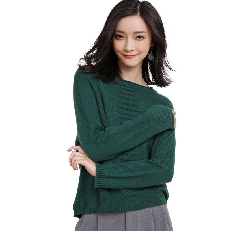 New Design Womens Soft Warm Cashmere Sweater Winter Autumn Full Sleeve Solid Color Knitted Wool Pullover- GML7274