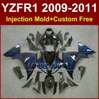 New motorcycle fairings for YAMAHA Injection mold YZF R1 09 10 11 12 R1 Blue flame bodyworks YZF1000 YZFR1 2009 2010 2011+7Gifts