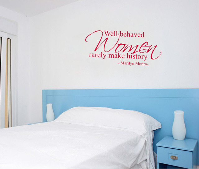 Well Behaved Women Rarely Make History Marilyn Monroe Wall Decals - How to make vinyl wall decals at home