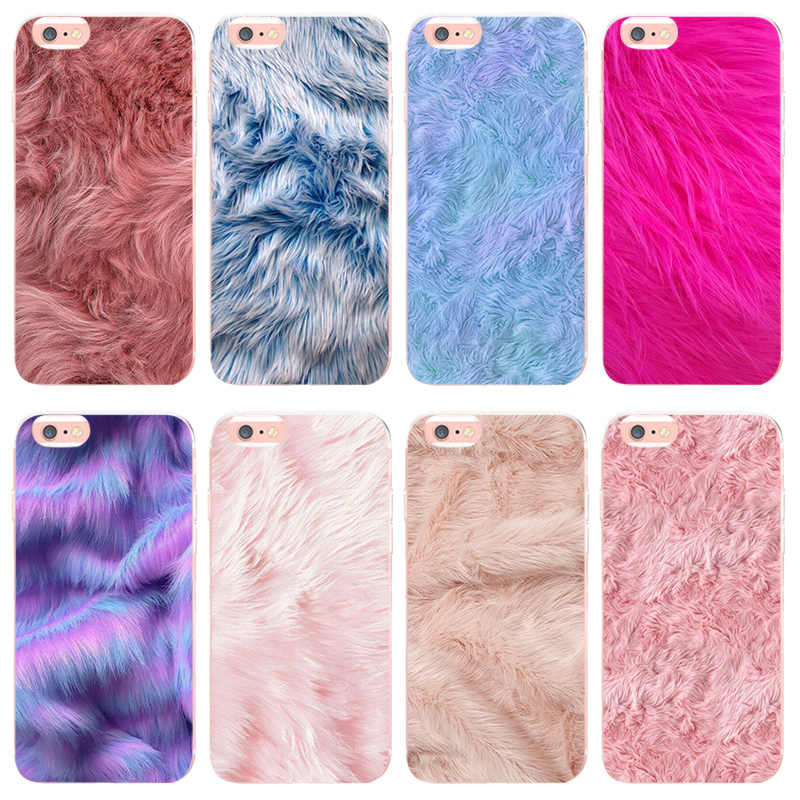 MaiYaCa Pelliccia texture per iphone 8 8 più il caso di carino Per iphone X XS XR XSMax 6 7 più di 6s 5 5s SE Ultra Sottile della cassa Del Silicone