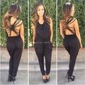Moda Vendaje backless monos monos para la mujer altura calidad algodón de la manija suave de ropa deportiva