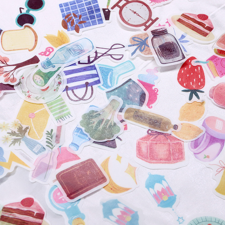 45pcs/pack Kawaii Magic Pocket Mini Paper Stickers Diy Album Diary Scrapbooking Label Sticker Stationery Decoration