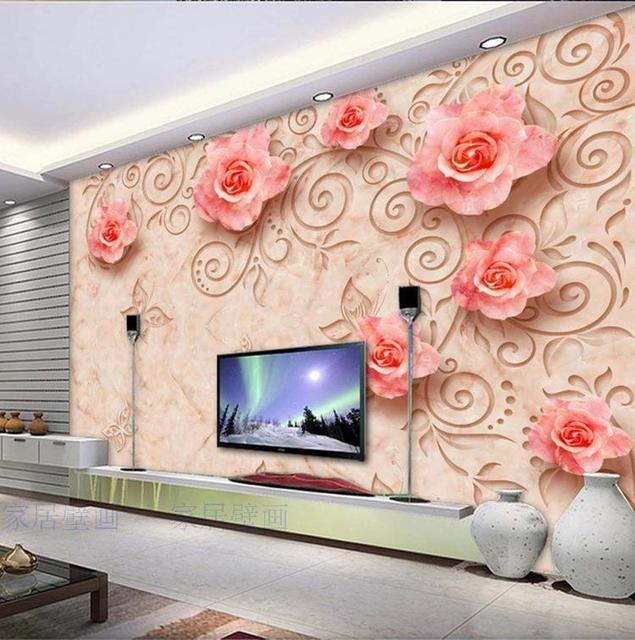 Continental Personnalise Carrelage Mural Marbre Reliefs Rose 3d 3d