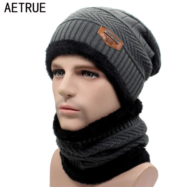 placeholder AETRUE Winter Beanie Knitted Hat Scarf Skullies Beanies Men  Winter Hats For Men Women Caps Gorras 276d56fdd4af
