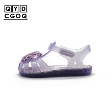 hot deal buy mini melissa style shell pattern girls princess sandals 2019 girls shoes child shoes baby sandals jelly kids sandals non-slip