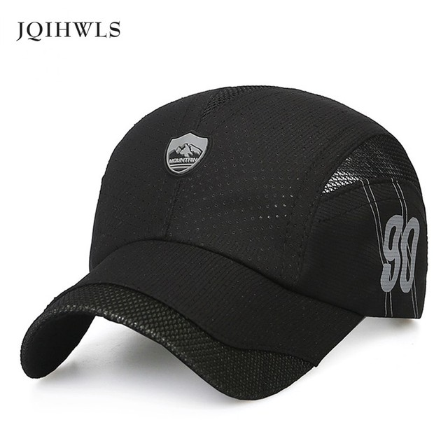 New Unisex baseball caps Summer Snapback Breathable motorcycle Female Fitted  Quick-Dry Men women Hat Camping hats 4f9f0aee0af