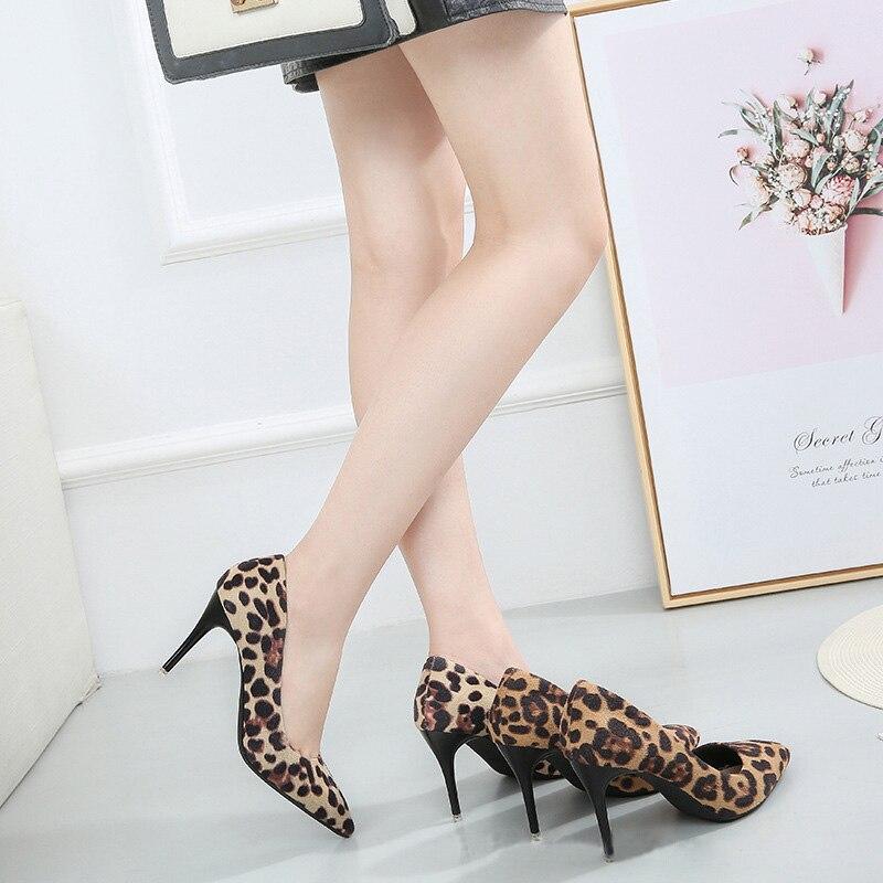 58fb883d8 Das Leopard Festa Apricot Leopard Cm Bombas Finos brown 5 Mulher De Saltos  Da A772 Salto Mulheres Sapatos ...