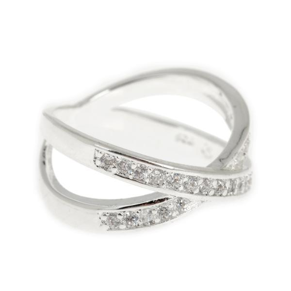 Fashion Jewelry Crystal Cross Silver Wedding Rings For Women Austrian Zircon Intertwined Engagement Band In From