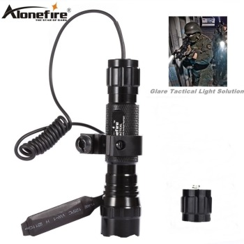 Alonefire LED Tactical Gun Flashlight 501B XML-T6 Torch lantern Rail 20mm Airsoft Rifle Scope Mount Shot gun light 18650 battery sitemap 12 xml