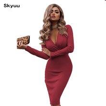 58b0d19be3 Skyuu bandaża sukni 2019 New Sexy Party sukienki strój do klubu nocnego  czerwony