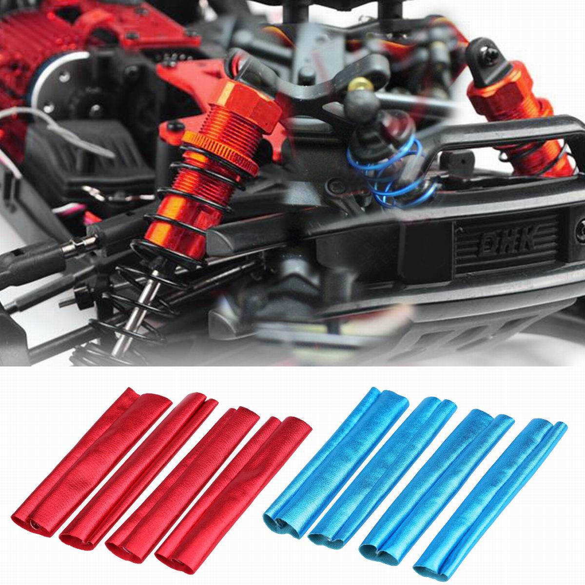 RC 81003 Red Alum Front Shocks Pivot End Screw For HSP 1:8 Off-Road Buggy Truck