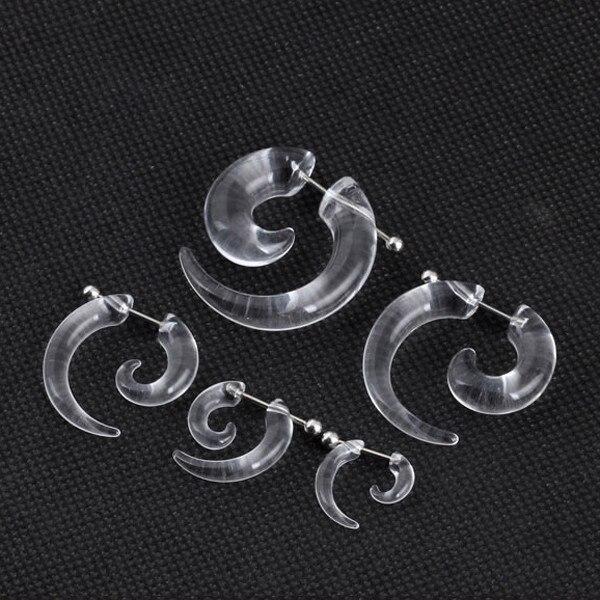 HTB1BtESQpXXXXaRaXXXq6xXFXXXn Rare Unisex Spiral Ear Taper Snail Ear Expander Body Piercing Jewelry - 2 Colors