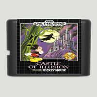 Château d'illusion mettant en vedette Mickey Mouse 16 bits MD carte de jeu pour Sega Mega Drive pour Genesis