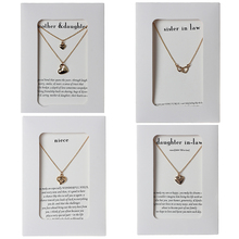 Fashion Gold Silver Plated Necklave For Women Romantic Heart Shape Charms Links Chains Pendant Family Necklace Gift Jewelry rhinestone heart shape romantic necklace for women