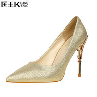 Women Pumps Heels Sexy High Heels Shoes Women Wedding Shoes Pumps 2017 Ladies Shoes Gold Silver