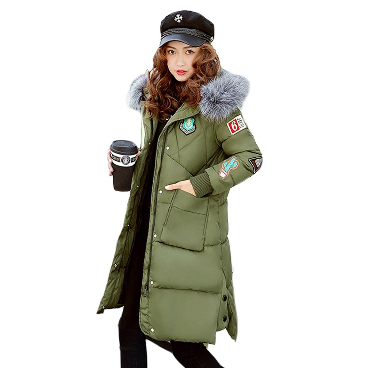 2017  Women Winter Coat 2017 Fashion Hooded Thickening Super warm Medium long Parkas Long sleeve Loose Big yards Jacket цены онлайн