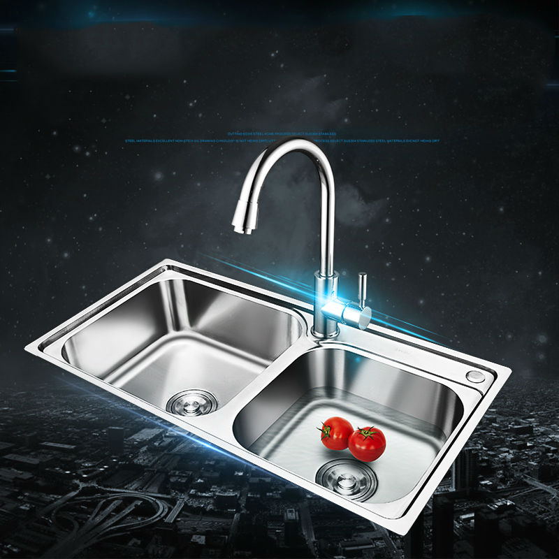 popular stainless steel double bowl kitchen sink-buy cheap