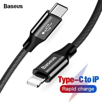 679278b5f8f Baseus USB tipo C a USB Cable para iPhone Xs Max Xr 8X8 7 6 6 s Plus 5 5S  se tipo-c de carga rápida cargador de Macbook cable de datos