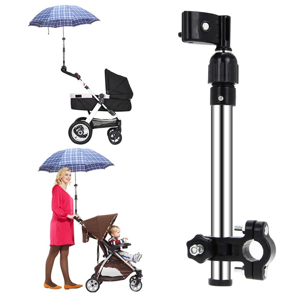 Plastic Baby Stroller Holder Adjustable Umbrella Stroller Pram Umbrella Stretch Stand Holder Infant Kids Stroller Accessories