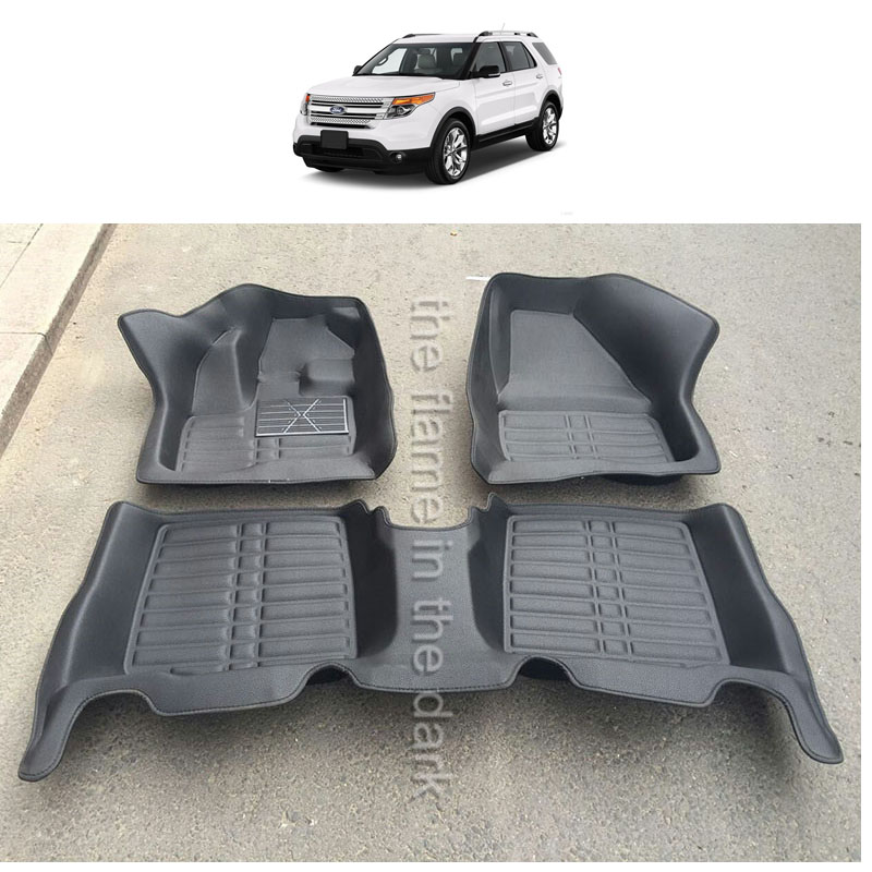 fast shipping waterproof fiber leather car floor mat for ford explorer 2017 2016 2015 2014 2012 2011 2013 2018 fast shipping fiber leather car floor mat carpet rug for ford kuga ford escape 2012 2013 2014 2015 2016 2017 2018 2nd generation