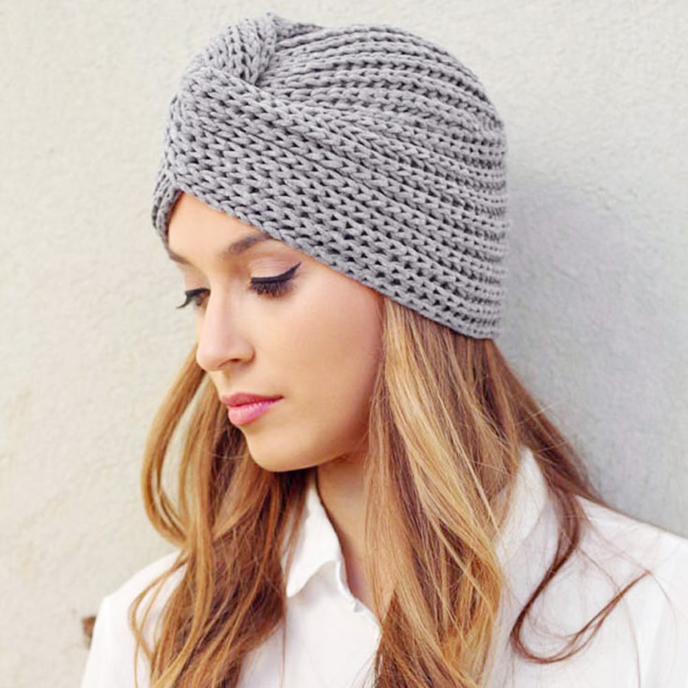 42a46bf0c Ins Hot Type Knitted Wool Cross-Twisted Cap Fashionable Winter Warm Sweater  Women's Hat Casual Beanie 7 Colors
