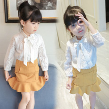 Baby Girls Clothing Sets Spring Autumn Lace Shirts+Skirts 2PCS Suit Fashion Summer Children Clothes Girls Set 2 3 4 5 6 7 Years clothing sets children baby 2pcs clothes girls summer t shirts dress 2pcs girls clothes for age 2 3 4 5 6 years kids sport suit