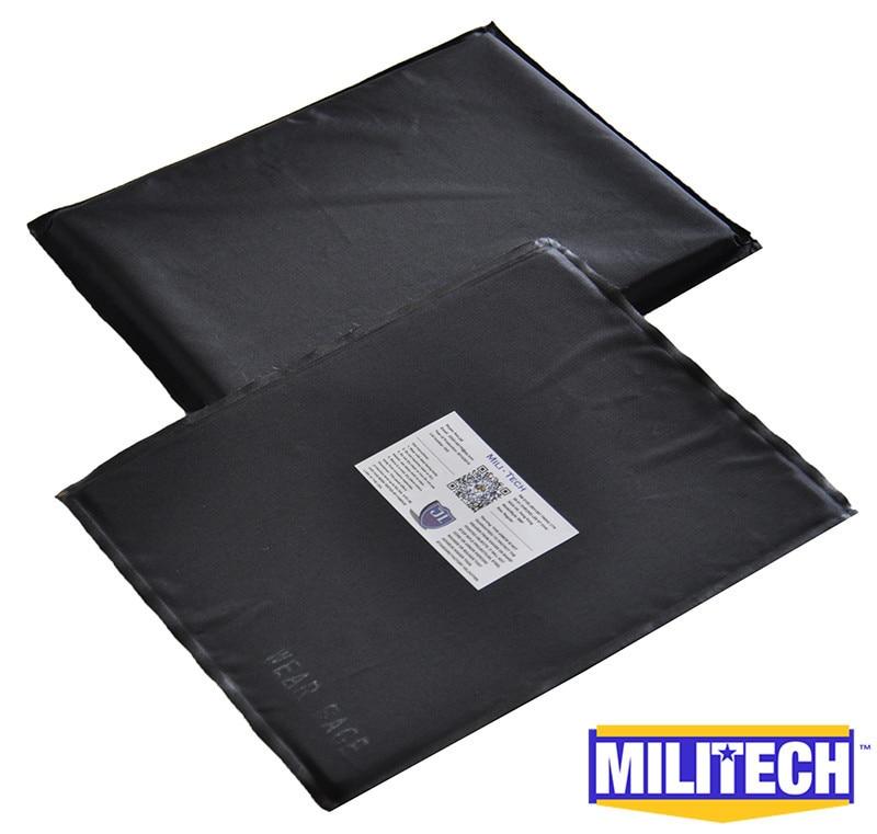 ФОТО Bulletproof Aramid Ballistic Panel Bullet Proof Plate Inserts Body Armor Soft Armour NIJ Level IIIA 3A 8'' x 10'' Pair Set