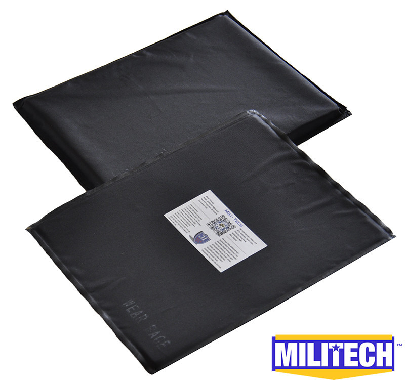 MILITECH 8'' x 10'' Pair Set Aramid Ballistic Panel Bullet Proof Plate Inserts Body Armor Soft Armour NIJ Level IIIA 3A bulletproof aramid ballistic panel bullet proof plate inserts body armor soft side armour panel nij level iiia 3a 5 x 8 pair