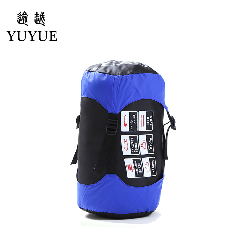 Outdoor Adult Warm Down Sleeping Bag For Winter Camping Tent Waterproof Nylon Survival Sleeping Bag Camping Tourism Supplies 3